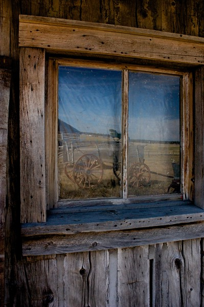 Reflections from the not so distant past<br /> Old Town Upton, WY