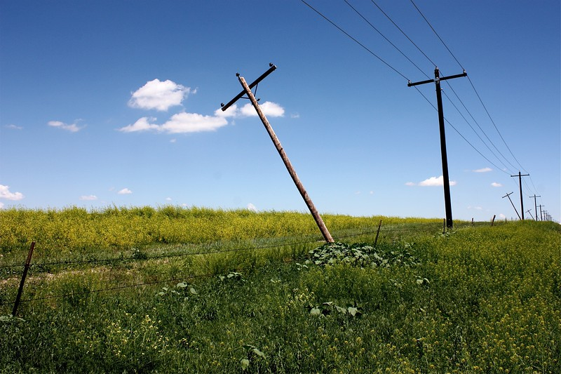 Changing out poles on the prairie (Pawnee National Grasslands)