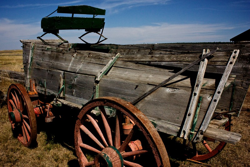 Wagon in Old Town Upton, WY