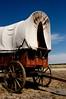 Covered wagon near Upton, WY
