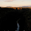 Sun setting over Rio Grande Gorge, Taos