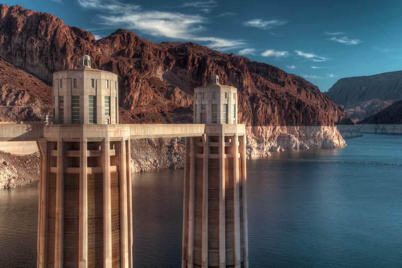 Water Intake Towers At Hoover Dam