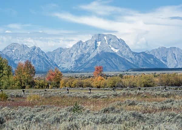 Grand Teton National Park near Jackson, Wyoming.  September of 2014.