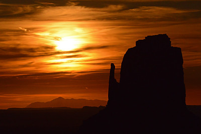 Moonshine Over Monument Valley