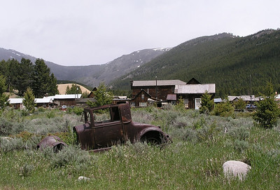 Elkhorn, Montana, one of the better western ghost towns.  It had its heyday in the 1880s and 90s, when it flourished on silver and gold mining.