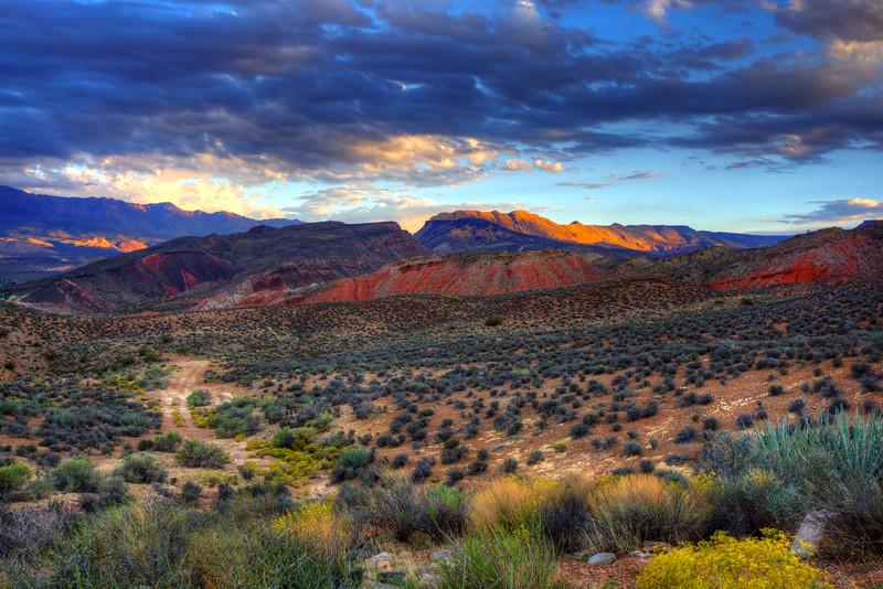 Dusk On The Hills Of Utah