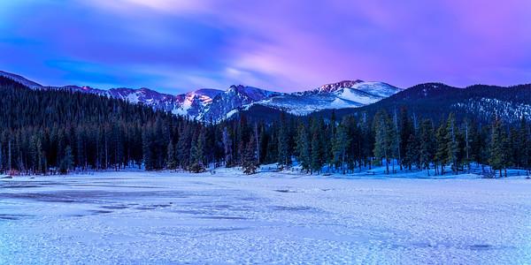 Echo Lake at Dawn Panorama