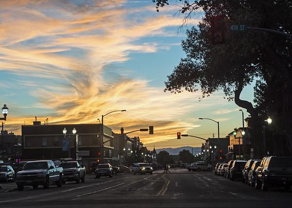 Western Sunset: this one in Laramie, Wyoming