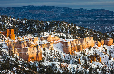 Late afternoon light on the outskirts of Bryce Canyon