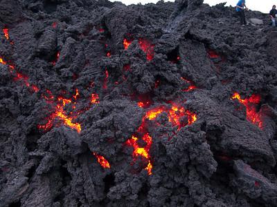 lava flow  guatemala