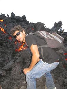 lava flow near antigua  guatemala