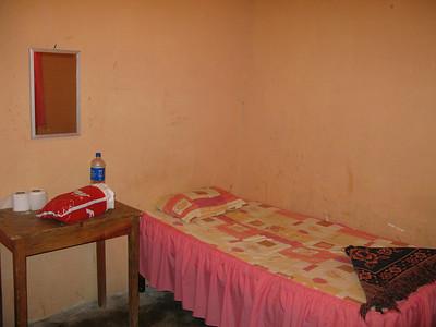 my sketchy room in a random sketchy town in honduras (2 bucks)  honduras