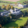 aerial shot of Chateau Deulin