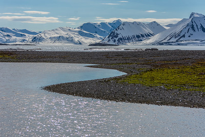 ANOTHER BEAUTIFUL ARCTIC MORNING.  Spitsbergen, Arctic Ocean, north of Norway.