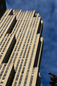 Thirty Rockefeller Center - This is a classic sort of view of the building.  The dark shadows and sky place nicely on the angles with the main face of the building in direct sunlight.