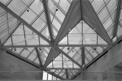 Angled Ceiling - It's clear that a great deal of work went into the design of the ceiling for the West Wing of the Smithsonian Museum of Art.