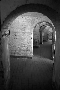 Inside Old Fort Jackson - I can't say I'd want to be here with cannonballs raining down around me.