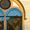 <b>Church Window</b> - In sunset, this window is a study in brown and gold.