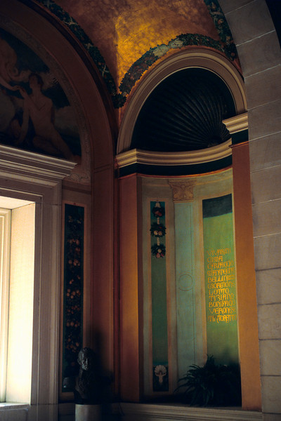 <b>A Quiet Corner of the Library</b> - The old half of the Boston Public Library is one of my favorite places to explore.  It's full of these ornately decorated spaces that almost nobody ever notices.