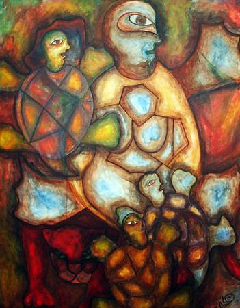 84. Las Tortugas (48x60, Oil, $1250)