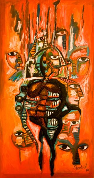 22. El Pueblo de los Mirones (29x52, Mixed, $1000)