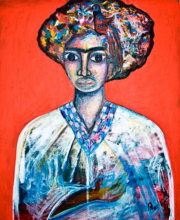 38. La Frida en Mi Modo (26x31, Acrylic, NFS)