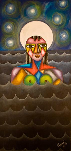 6. Mujer en el Rio (27x57, Acrylic, $850)