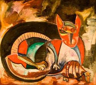 11. El Cuento del Mapache y el Armadillo (46x41, Oil, $1200)