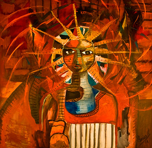 1. Espiritu de Tehuantepec (48x48, Oil, $1100)