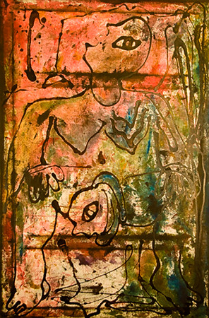 21. Mujer Pariendo (36x54, Mixed, $1000)