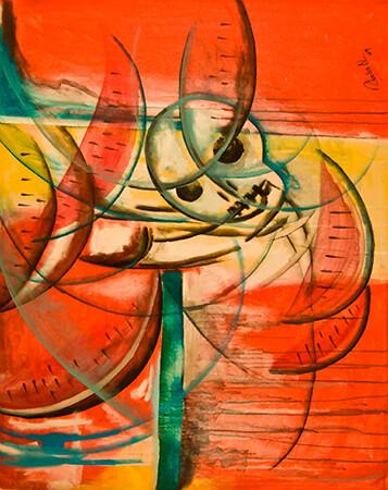 26. Muerte por Una Sandia (33x41, Acrylic, $1000)