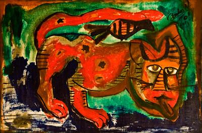 31. Gato Enfermo (41x25, Acrylic, $700)