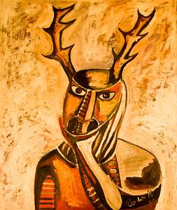 8. La Mascara del Venado (30x36, Oil, $800)