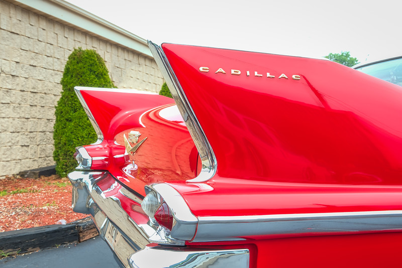 Red Cadillac Tail Fins (1 of 1)