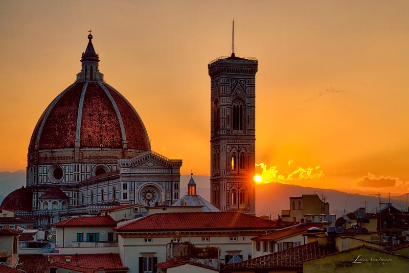 The Tuscan sun...