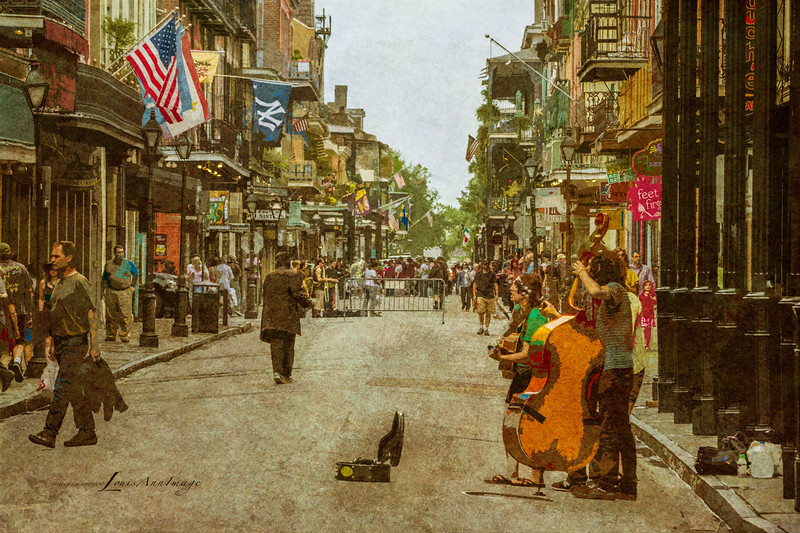 Sound of the Street - Rue Royale, French Quarter, New Orleans