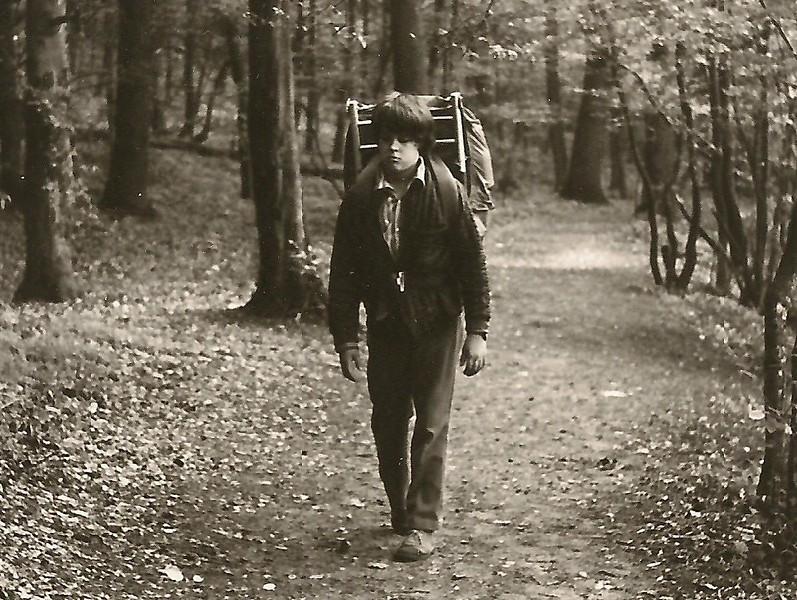 Young Mark hiking in Shenandoah National Park, circa 1972.
