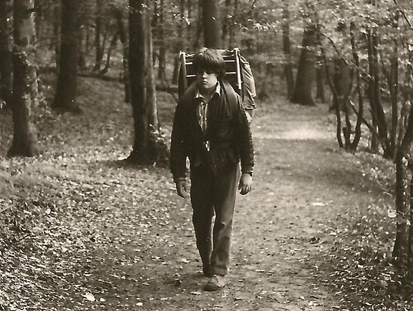 Young Mark hiking in Shenandoah National Park, circa 1972.