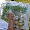 Painting for the Cahoon Museum's Great Brush Off