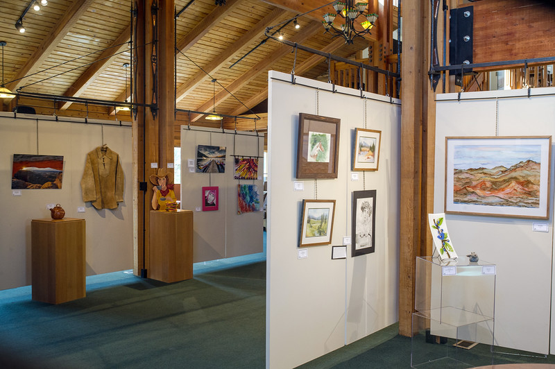 There's always something to see at the Josephy Center for Arts and Culture at the north end of Joseph's Main Street. These pieces are hanging as part of the annual Women's Art show.
