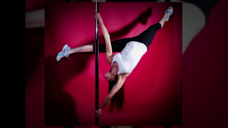 Pole dancing expert and fitness instructor Jennifer Wilkins. We made the cover of a UK magazine together.