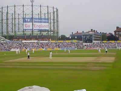 Play (2)  Still playing cricket.