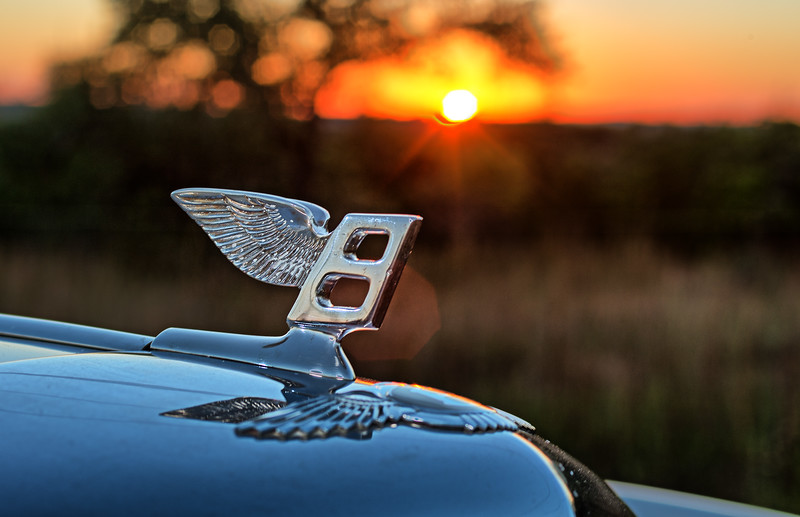 The Bentley hood ornament.