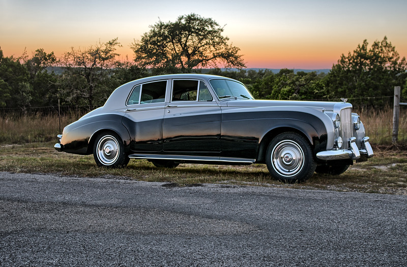 1960 Bentley at sunset.