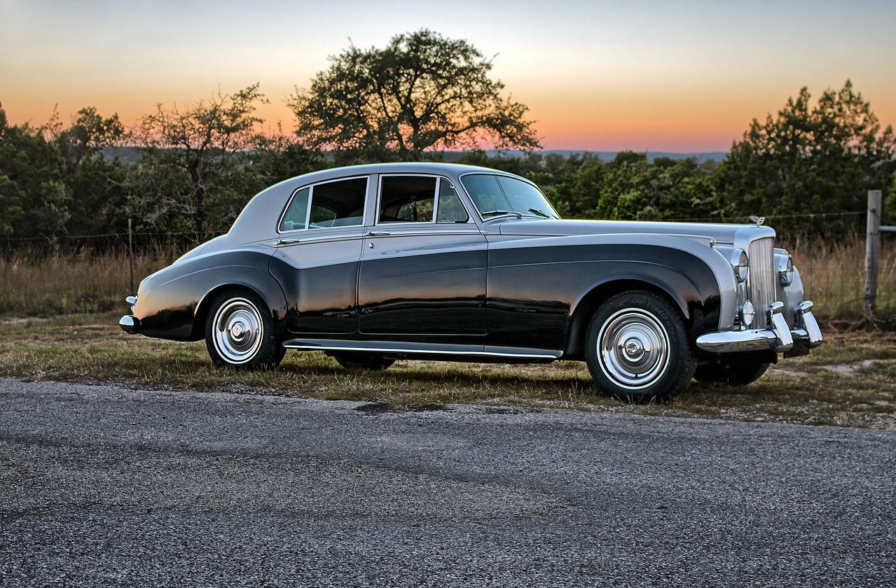 1960 Bentley at sunset.