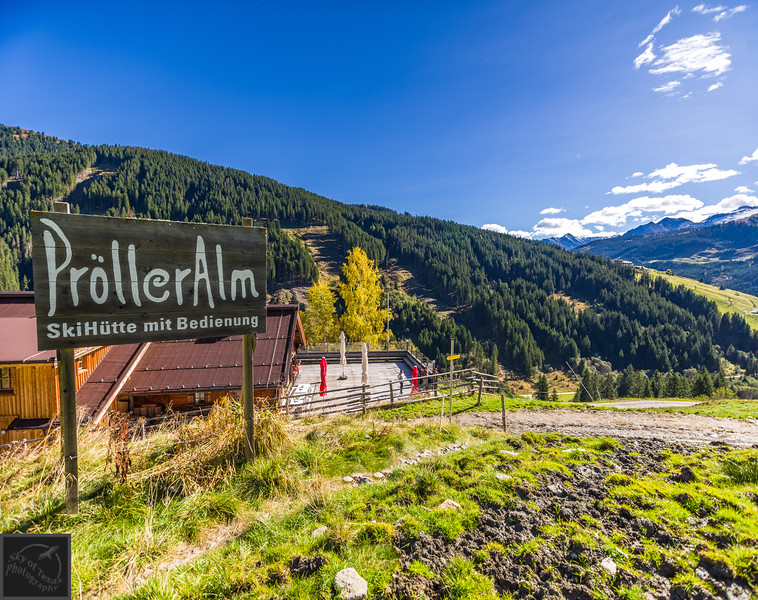 Proller Alm restaurant in the Tirol Alps of Austria.