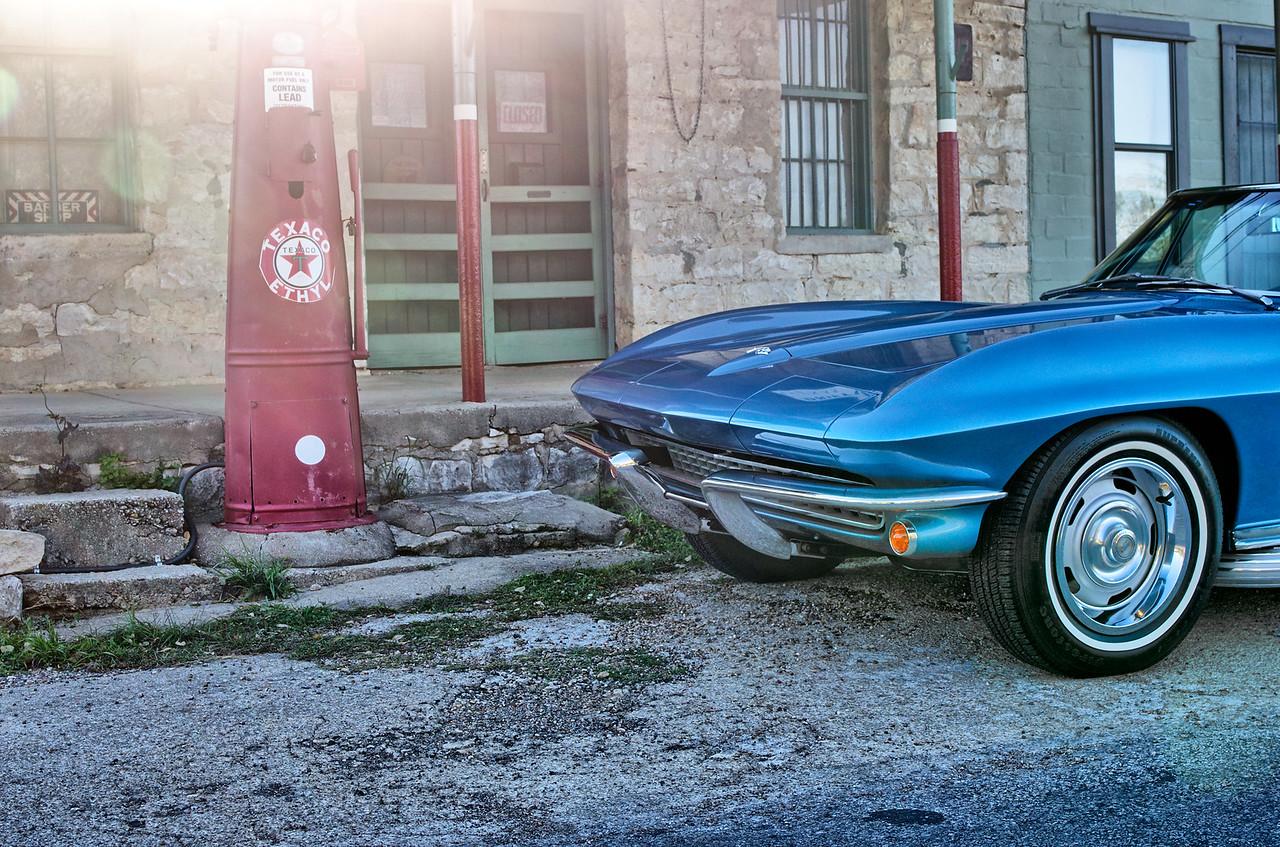 1967 Corvette passing through Driftwood, Texas.