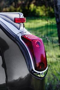 Rear tail light of 1941 Cadillac.