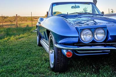 Three quarters view of 1967 Corvette Sting Ray convertible.