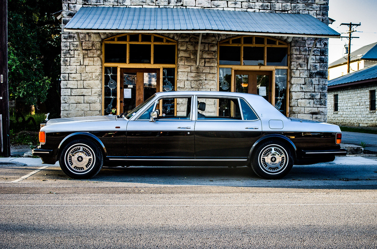 1989 Rolls Royce in Dripping Springs, Texas.